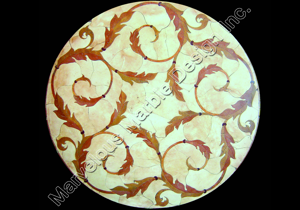 custom marble medallion