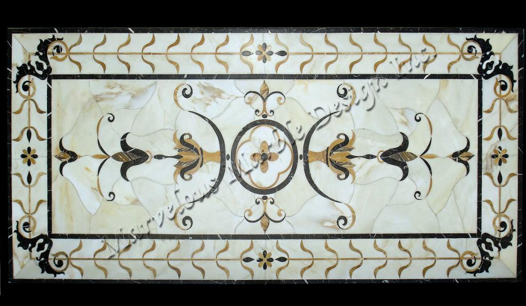 marble floor medallions