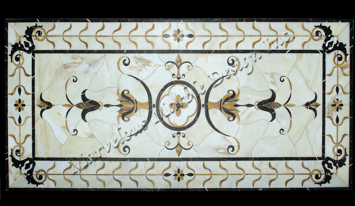 marble floor design » Bianco Carrara Marble Floor Design in new york ...