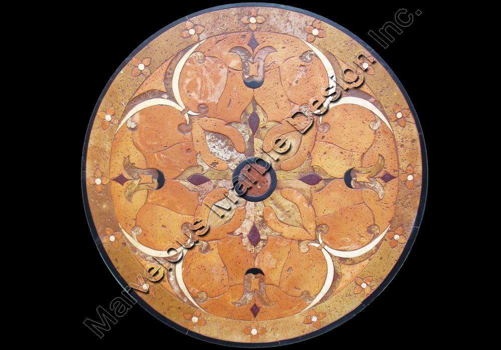 Italian marble medallions