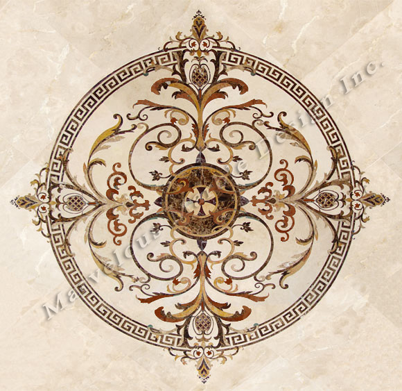 luxury marble medallions