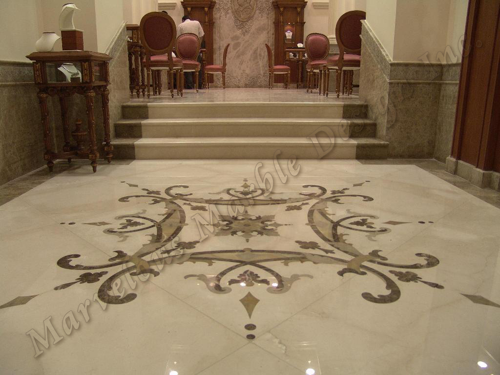 Marble floor design italian marble medallion to enhance your one dailygadgetfo Choice Image