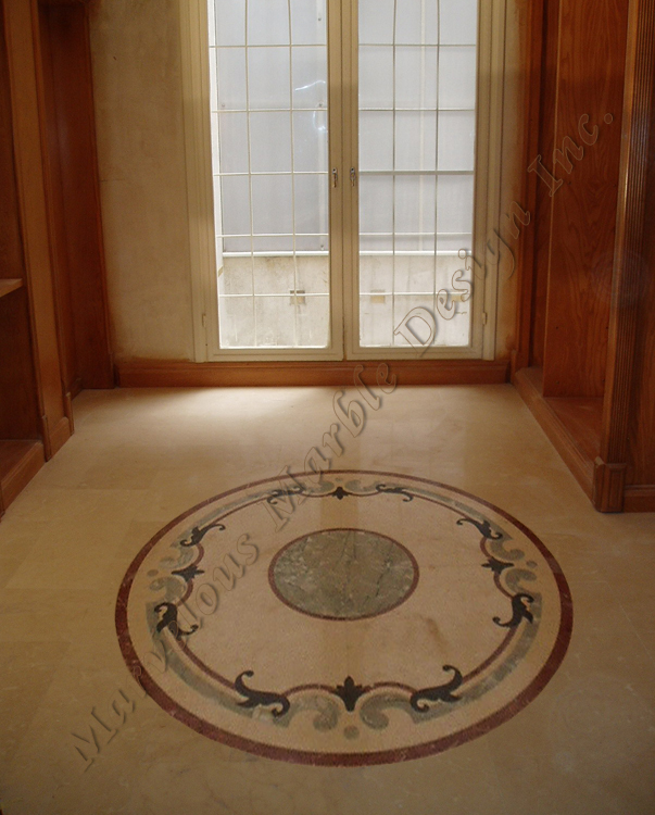 Marble floor patterns