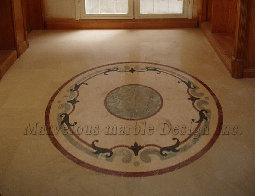 marble floor design » Custom Marble Flooring in Custom Mansions in ...