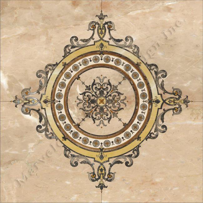custom marble floor design