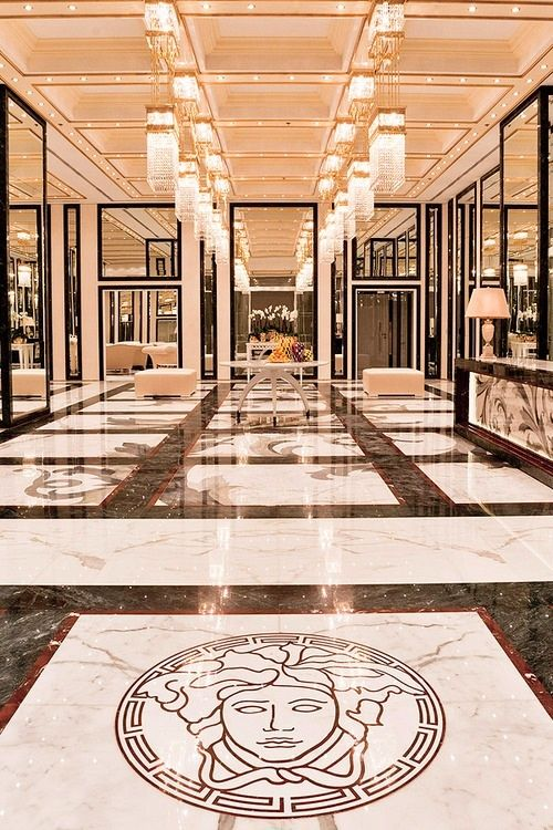 marble floor design » Versace Marble Floor Medallion